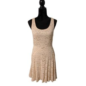 Free People Floral Lace Open Back Skater Dress